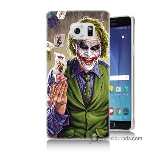 Teknomeg Samsung Galaxy Note 5 Kılıf Kapak Kartlı Joker Baskılı Silikon