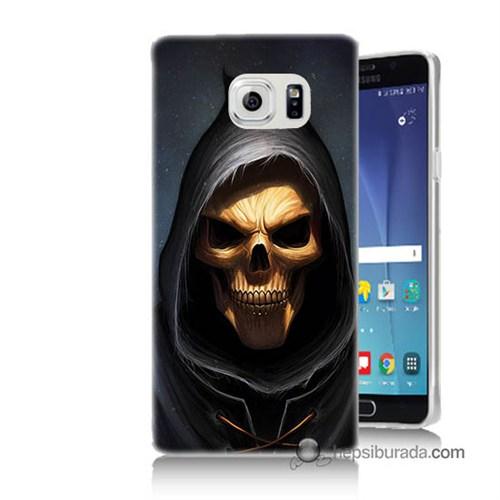 Teknomeg Samsung Galaxy Note 5 Kılıf Kapak Ölüm Meleği Baskılı Silikon
