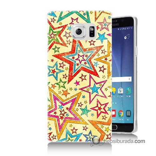 Teknomeg Samsung Galaxy Note 5 Kılıf Kapak Yıldızlar Baskılı Silikon