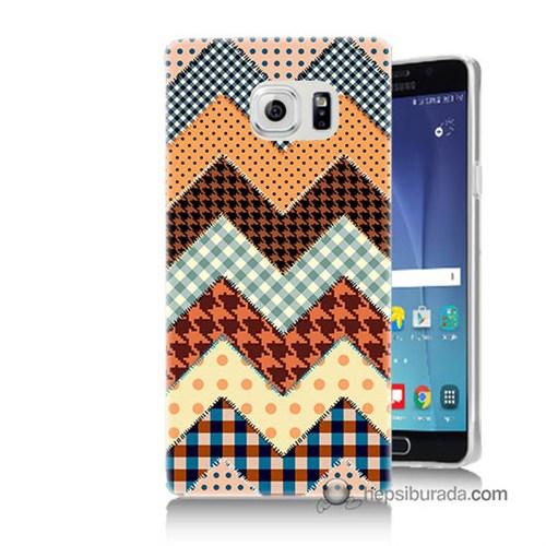 Teknomeg Samsung Galaxy Note 5 Kapak Kılıf Patchwork Baskılı Silikon