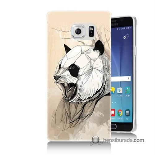 Teknomeg Samsung Galaxy Note 5 Kapak Kılıf Kavgacı Panda Baskılı Silikon
