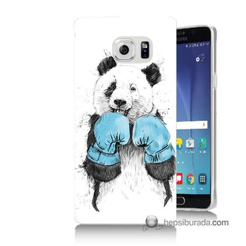 Teknomeg Samsung Galaxy Note 5 Kılıf Kapak Boksör Panda Baskılı Silikon