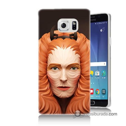 Teknomeg Samsung Galaxy Note 5 Kapak Kılıf Kabartma Kız Baskılı Silikon