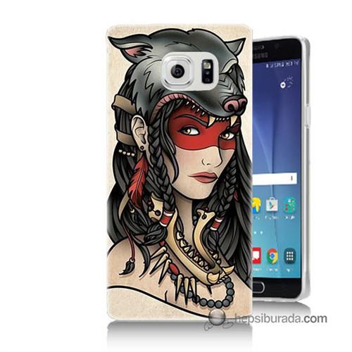 Teknomeg Samsung Galaxy Note 5 Kapak Kılıf Pocahontas Baskılı Silikon