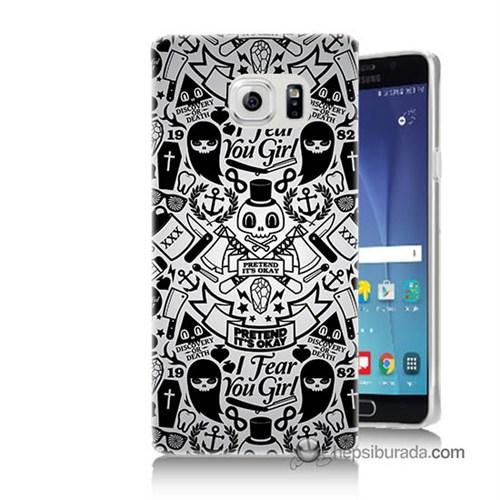 Teknomeg Samsung Galaxy Note 5 Kılıf Kapak Karikatür Baskılı Silikon