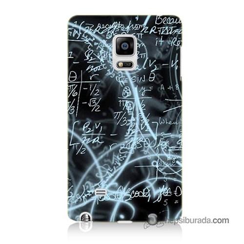 Teknomeg Samsung Galaxy Note Edge Kapak Kılıf Matematik Baskılı Silikon