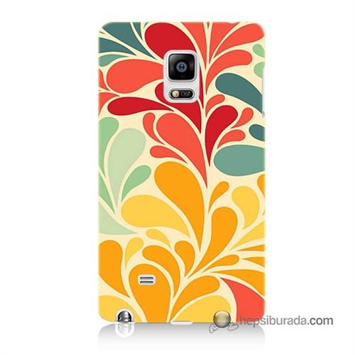 Teknomeg Samsung Galaxy Note Edge Kapak Kılıf Çiçekler Baskılı Silikon