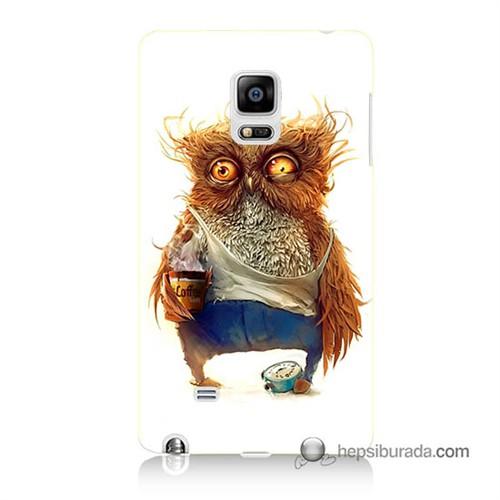 Teknomeg Samsung Galaxy Note Edge Kapak Kılıf Miskin Baykuş Baskılı Silikon