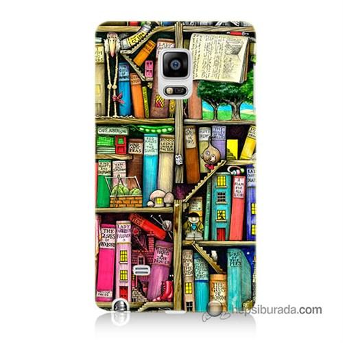 Teknomeg Samsung Galaxy Note Edge Kapak Kılıf Kitaplık Baskılı Silikon