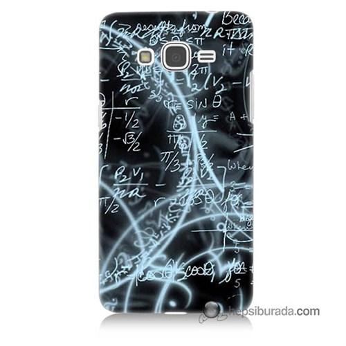Teknomeg Samsung Galaxy Grand Prime Kapak Kılıf Matematik Baskılı Silikon