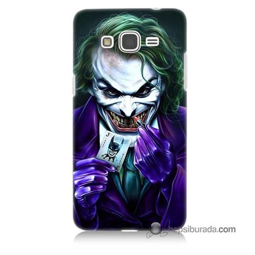 Teknomeg Samsung Galaxy Grand Prime Kapak Kılıf Joker Baskılı Silikon
