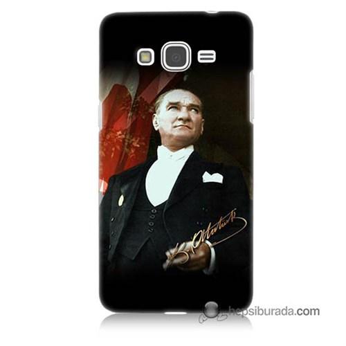 Teknomeg Samsung Galaxy Grand Prime Kapak Kılıf M.K.Atatürk Baskılı Silikon