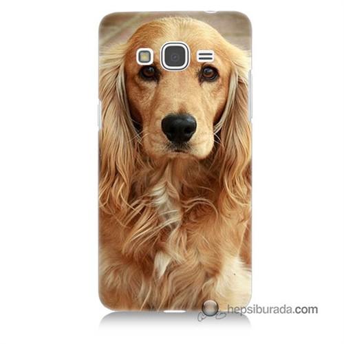 Teknomeg Samsung Galaxy Grand Prime Kapak Kılıf Köpek Baskılı Silikon