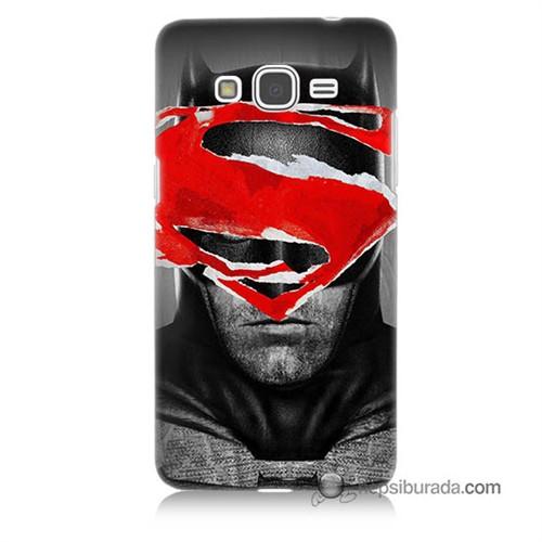 Teknomeg Samsung Galaxy Grand Prime Kapak Kılıf Batman Vs Superman Baskılı Silikon