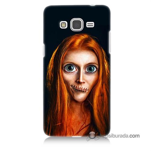 Teknomeg Samsung Galaxy Grand Prime Kılıf Kapak Zombie Kız Baskılı Silikon