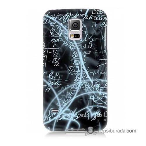 Teknomeg Samsung Galaxy S5 Mini Kapak Kılıf Matematik Baskılı Silikon