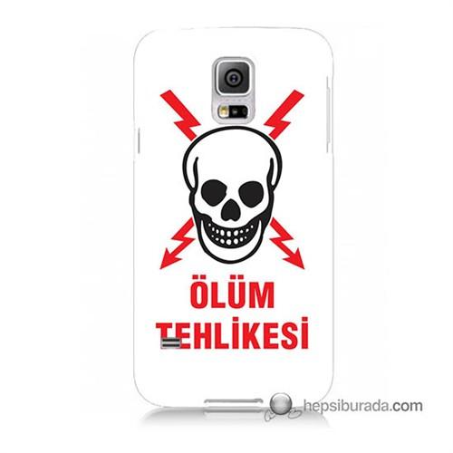 Teknomeg Samsung Galaxy S5 Mini Kapak Kılıf Ölüm Tehlikesi Baskılı Silikon