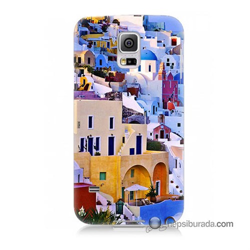 Teknomeg Samsung Galaxy S5 Mini Kılıf Kapak İbiza Baskılı Silikon