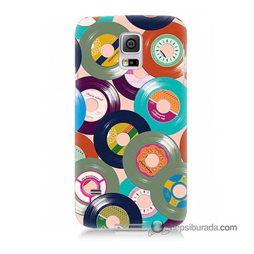 Teknomeg Samsung Galaxy S5 Mini Kapak Kılıf Renkli Plaklar Baskılı Silikon