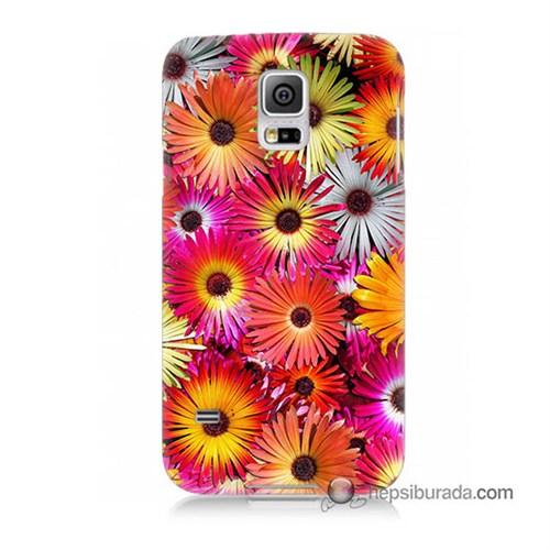 Teknomeg Samsung Galaxy S5 Mini Kılıf Kapak Kasımpatı Baskılı Silikon