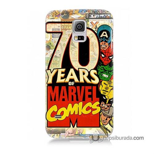 Teknomeg Samsung Galaxy S5 Mini Kılıf Kapak Marvel Karakterleri Baskılı Silikon