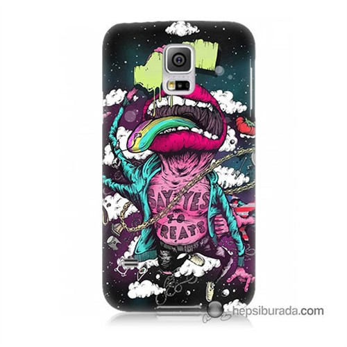 Teknomeg Samsung Galaxy S5 Mini Kapak Kılıf Roling Stones Baskılı Silikon