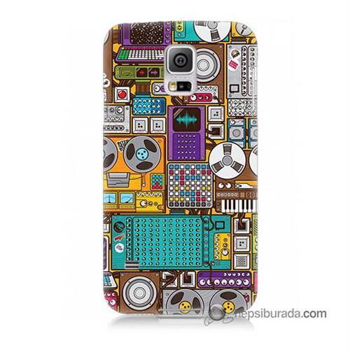 Teknomeg Samsung Galaxy S5 Mini Kılıf Kapak Teknoloji Baskılı Silikon