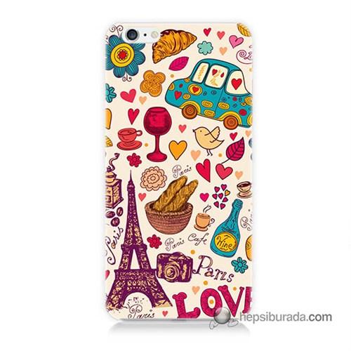 Teknomeg İphone 6S Kapak Kılıf Paris Love Baskılı Silikon