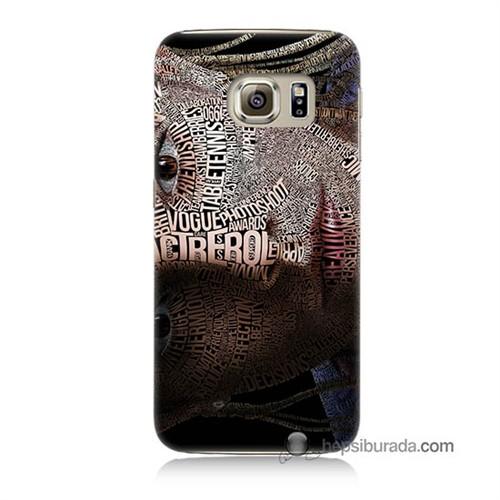 Teknomeg Samsung Galaxy S6 Kılıf Kapak Yazılı Kadın Baskılı Silikon
