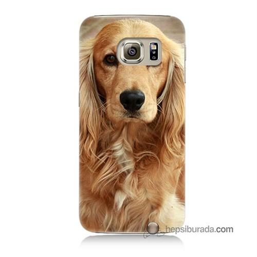 Teknomeg Samsung Galaxy S6 Kapak Kılıf Köpek Baskılı Silikon