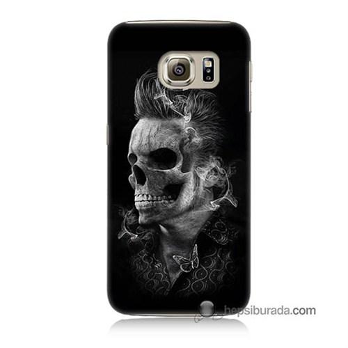 Teknomeg Samsung Galaxy S6 Kapak Kılıf Elvis Presley Efsanesi Baskılı Silikon