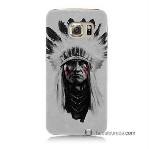 Teknomeg Samsung Galaxy S6 Kılıf Kapak Geronimo Baskılı Silikon