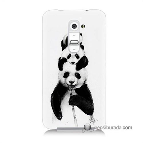 Teknomeg Lg G2 Kapak Kılıf Panda Ailesi Baskılı Silikon