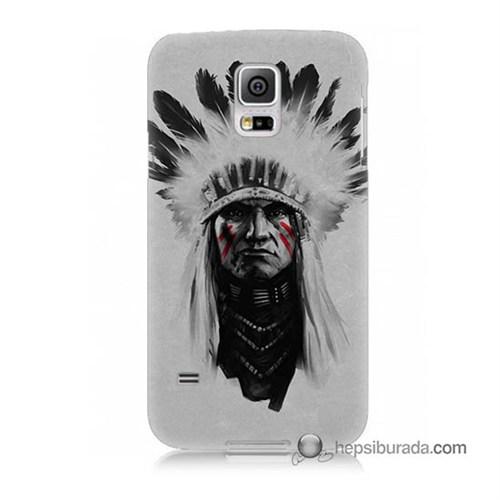 Teknomeg Samsung Galaxy S5 Kılıf Kapak Geronimo Baskılı Silikon