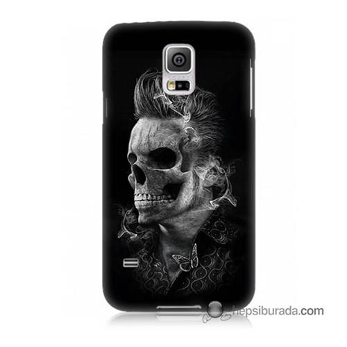 Teknomeg Samsung Galaxy S5 Kapak Kılıf Elvis Presley Efsanesi Baskılı Silikon