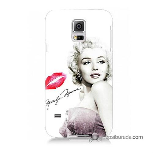Teknomeg Samsung Galaxy S5 Kapak Kılıf Marilyn Monroe Baskılı Silikon