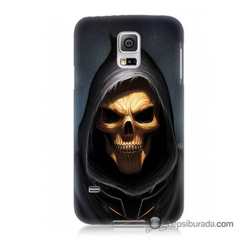 Teknomeg Samsung Galaxy S5 Mini Kılıf Kapak Ölüm Meleği Baskılı Silikon