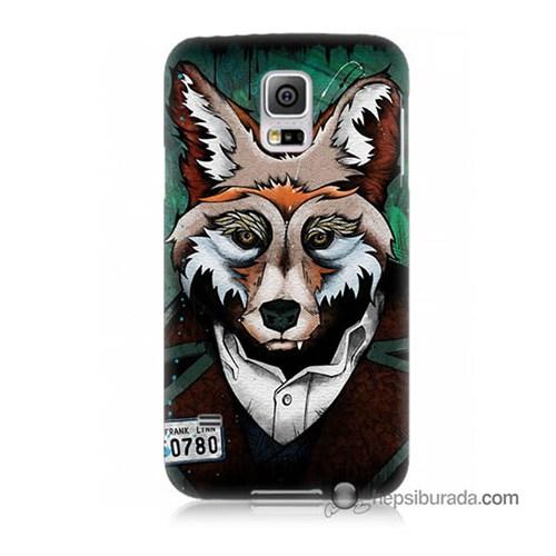 Teknomeg Samsung Galaxy S5 Mini Kılıf Kapak Bad Wolf Baskılı Silikon