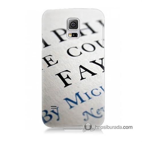 Teknomeg Samsung Galaxy S5 Mini Kapak Kılıf Yazılar Baskılı Silikon