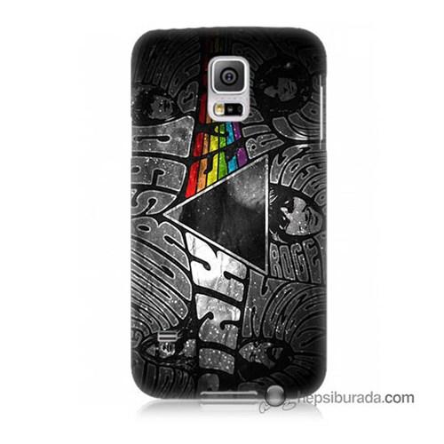 Teknomeg Samsung Galaxy S5 Mini Kapak Kılıf Pink Floyd Baskılı Silikon