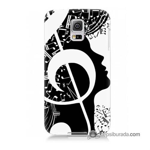 Teknomeg Samsung Galaxy S5 Mini Kapak Kılıf Notalar Baskılı Silikon