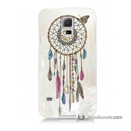 Teknomeg Samsung Galaxy S5 Mini Kapak Kılıf Dream Catcher Baskılı Silikon