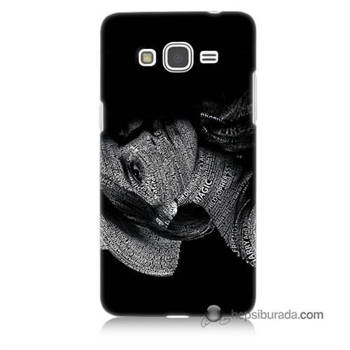 Teknomeg Samsung Galaxy Grand Prime Kılıf Kapak Yazılı Kadın Baskılı Silikon
