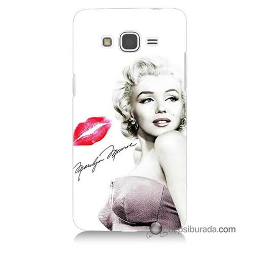 Teknomeg Samsung Galaxy Grand Prime Kapak Kılıf Marilyn Monroe Baskılı Silikon
