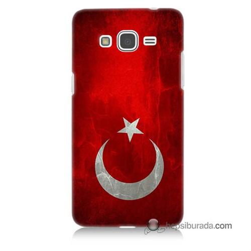 Teknomeg Samsung Galaxy Grand Prime Kılıf Kapak Türkiye Bayrağı Baskılı Silikon
