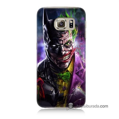 Teknomeg Samsung Galaxy S6 Kılıf Kapak Batman Vs Joker Baskılı Silikon