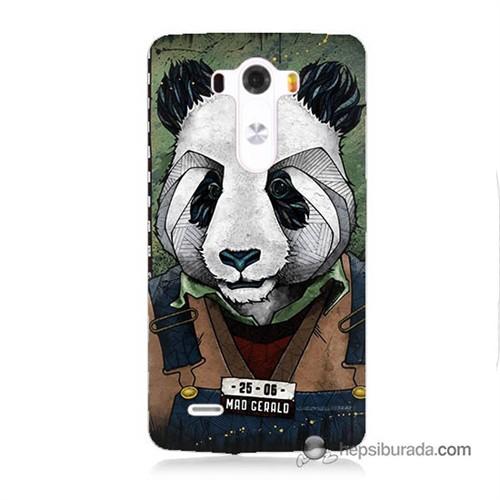 Teknomeg Lg G3 Kapak Kılıf İşçi Panda Baskılı Silikon