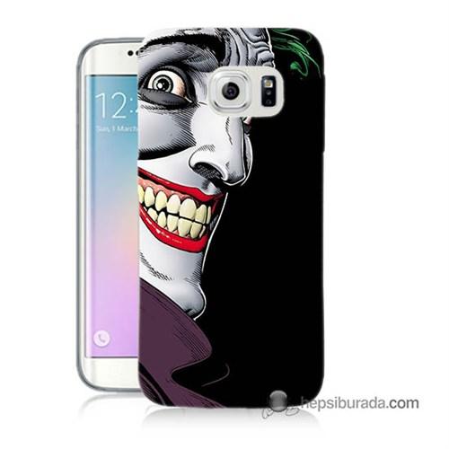 Teknomeg Samsung Galaxy S6 Edge Plus Kapak Kılıf Joker Baskılı Silikon