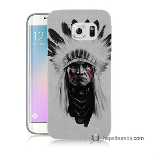 Teknomeg Samsung Galaxy S6 Edge Plus Kılıf Kapak Geronimo Baskılı Silikon