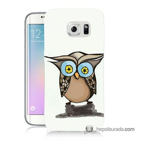 Teknomeg Samsung Galaxy S6 Edge Plus Kapak Kılıf Baykuş Baskılı Silikon